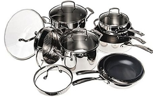 8. Classic Stainless Steel Cookware Set