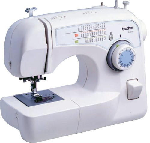 10. Brother XL-3750 Convertible 35- Stitch Free –Arm Sewing Machine With Quilting Table, 7 Presser Feet