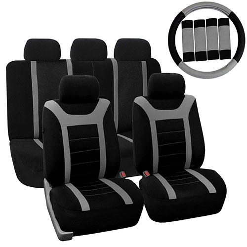 3. Complete Set Sports Fabric Car Seat Covers
