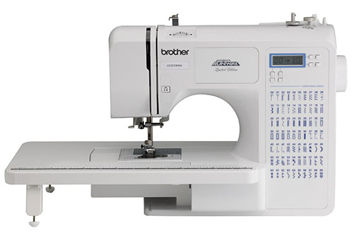 7. Brother Project Runaway CE7070PRW 70- Stitch Computerized Sewing Machine With Wide Table
