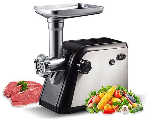 6. Homeleader 800W Electric Meat Grinder Mincer with Exchangeable 3 Cutting Plates
