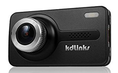 3. KDLINKS X1 Full-HD 1920*1080 165 Wide Angle Car Dashboard Camcorder with GPS