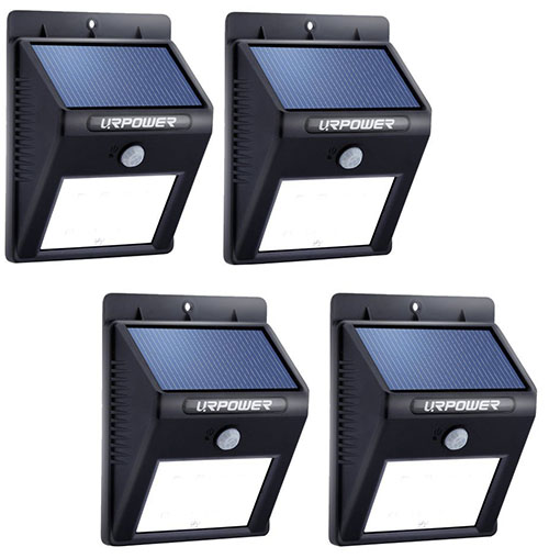 Top 10 best outdoor motion sensor solar lights in reviews solar lighturpower 8 led outdoor solar powerdwireless waterproof security motion sensor light aloadofball Image collections