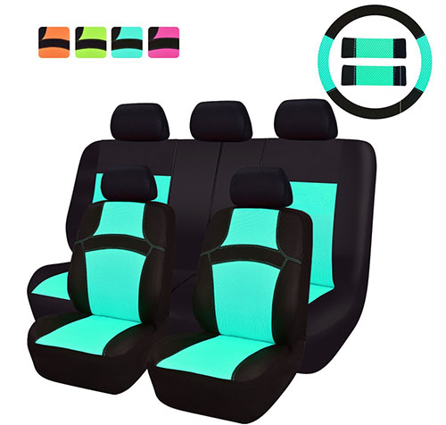 CAR PASS RAINBOW Universal Fit Car Seat Cover