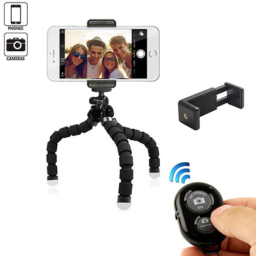 2. MaCro-F Mini Phone Tripod Stand TriFlex Octopus Flexible iPhone Tripod with Remote and Universal Clip for Cellphone Video