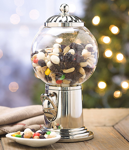 10. Globe Snack Dispenser with Shiny Globe Finial