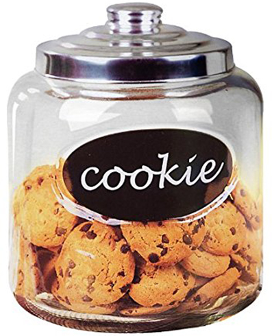 7. Home Basics Cookie Jar with Metal Top