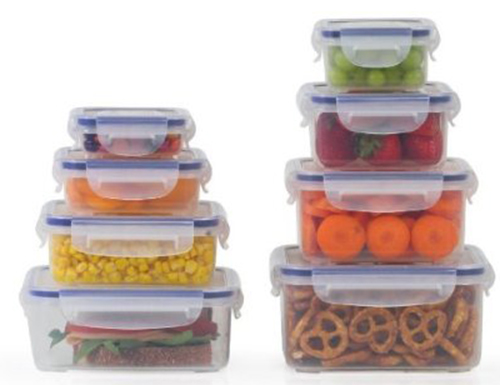 8. Popit Little Big Box Food Plastic Container Set
