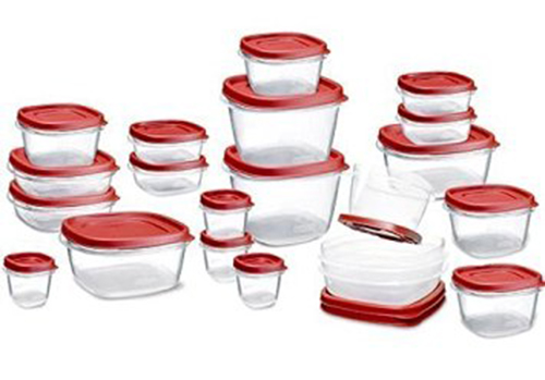 1. Rubbermaid Easy Find Lids Food Storage Container