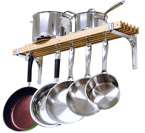 2. Cooks Standard Wall Mount Pot Rack