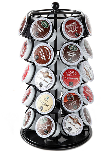 5. Lily's Home K Cup Holder Carousel for 35 K-Cups in Black