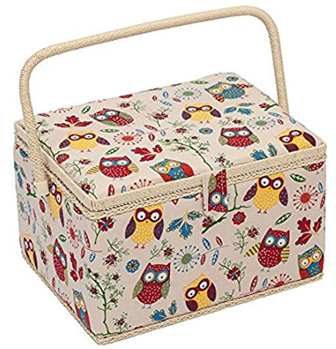 8. Gift Owl Design Sewing Box