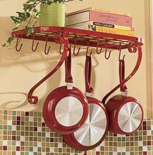 9. VDOMUS Kitchen Pot Pan Rack Shelf