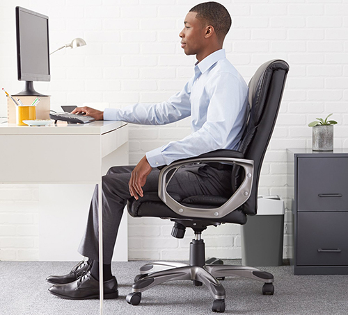 6. AmazonBasics High-Back Executive Chair
