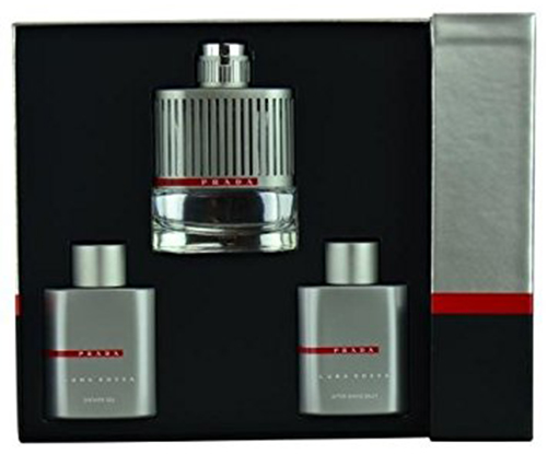 6. Prada Luna Rossa 3 Piece Gift Set for Men
