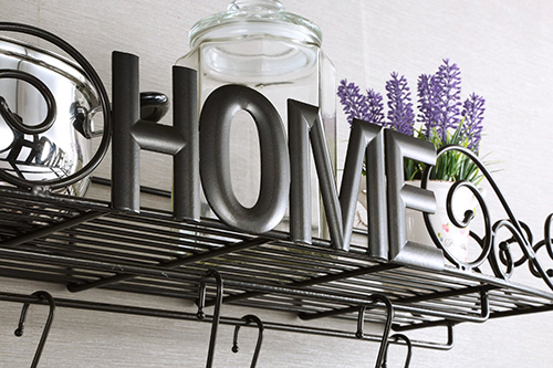 6. Heavy-duty Wrought Iron Pot Rack