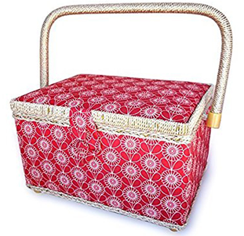 6. bbloop Vintage Sewing Basket