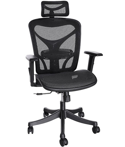 8. ANCHEER Ergonomic Office Chair with Black Mesh