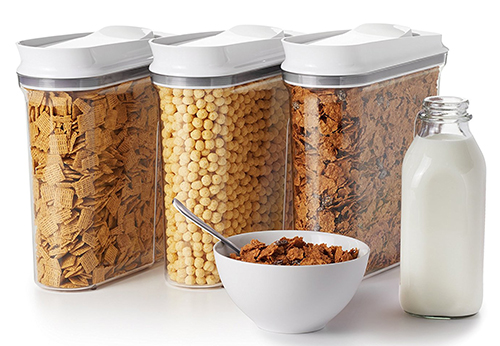 3. OXO Good Grips 3 Piece Cereal Dispenser Set