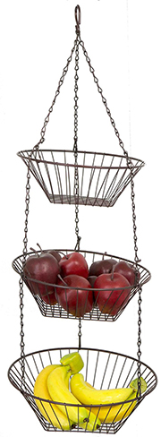 10. 3-Tier Space Saving Wire Hanging Basket