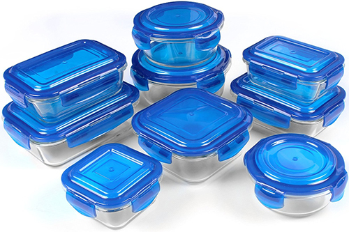 2. Glass Food Storage Container Set