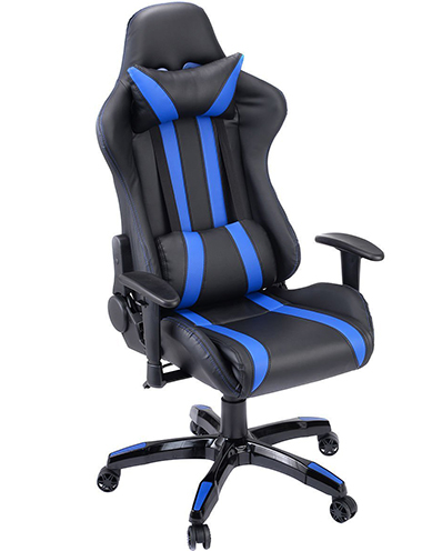 1. Reclining Gaming Chair Computer Black + Blue