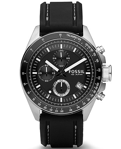 9. Fossil Men's CH2573 Decker Stainless Steel Chronograph Watch