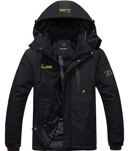 1. Wantdo Men's Waterproof Mountain Jacket
