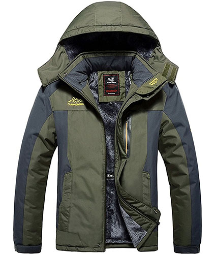 5. Ski Jacket Fleece Hooded Outwear