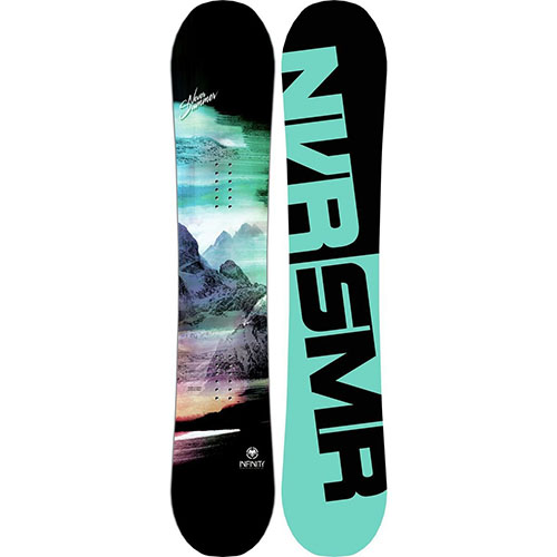 2. Never summer infinity snowboard for women