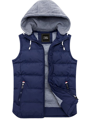 6. Padded Vest Removable Hooded outwear Jacket