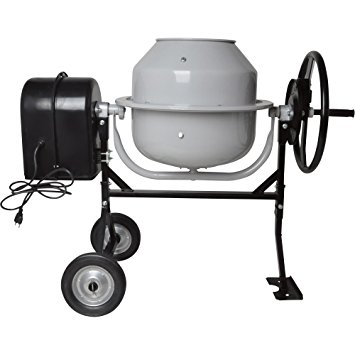 6. Klutch 1.77 Cubic Ft. Electric Cement Mixer