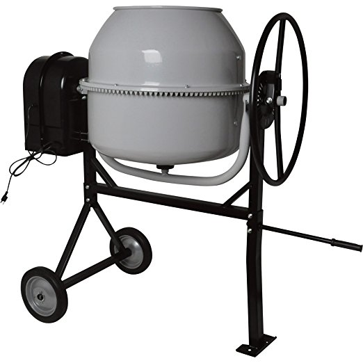 2. Klutch 6 Cubic Ft. Portable Cement Mixer