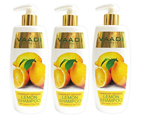 6. Lemon with Tea Tree Extract Shampoo