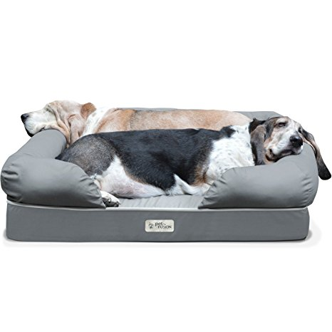 1. PetFusion Ultimate Pet Bed &Lounge in Premium Edition with Solid Memory Foam.