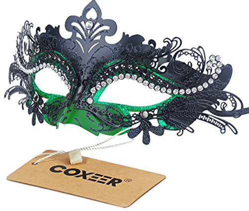 9. Masquerade Halloween Mardi Gras Party Mask