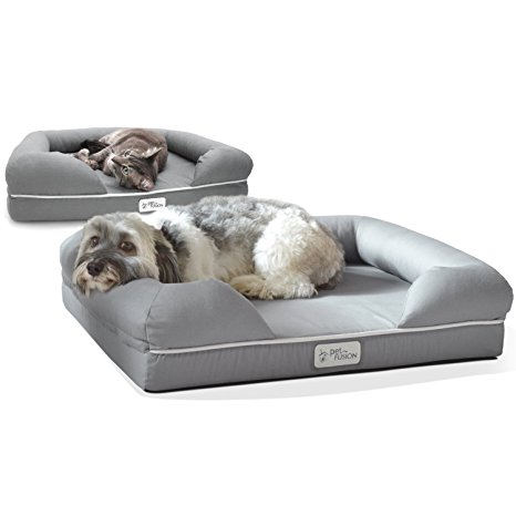 6. Pet Fusion Ultimate Pet Bed & Lounge in Premium Edition with Solid Memory Foam.