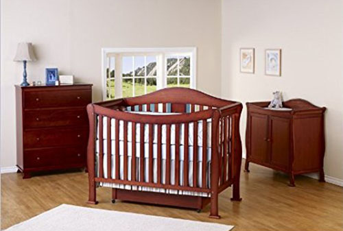 9 3 Piece 4 In 1 Convertible Crib Set Cherry