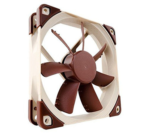 3. Noctua 120mm, Anti-Stall Knobs Design, SSO2 Bearing PWM Case Cooling Fan NF-S12A PWM