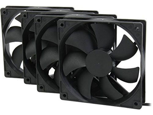 10. Rosewill 120mm Long Life Sleeve Case Black Case Fan