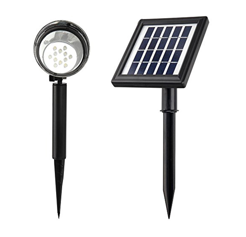 8. MicroSolar 12 LED Solar Spotlight