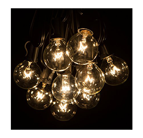Top 10 best outdoor string lights in 2018 reviews 50 foot g40 patio globe string lights with clear bulbs for outdoor string lighting workwithnaturefo