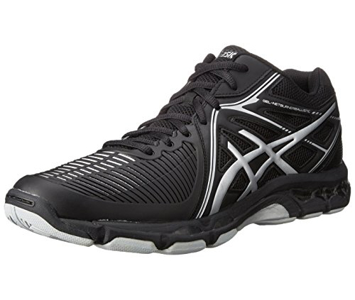. Asics Men's Ballistic MT Volleyball Shoe (Navy/Silver/Electric Blue)