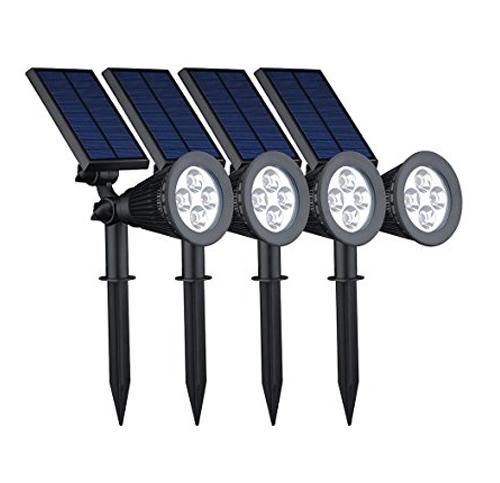 7. VicTsing 4 Pack Solar Spotlights