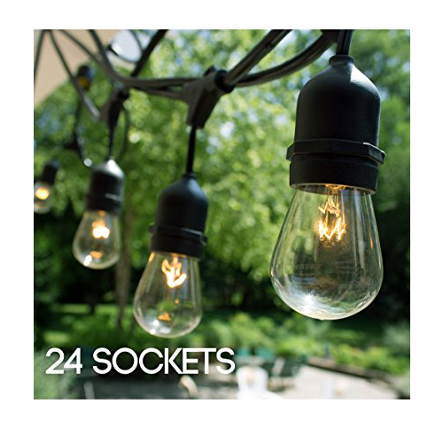 1. Fulton Illumination 24 Bulbs Outdoor String Lights