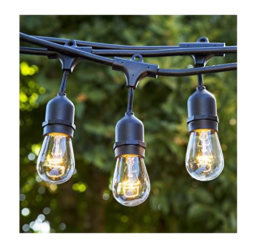 6. Proxy Lighting Black 48 Foot Outdoor String Lights