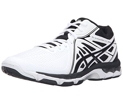 . Asics Men's Ballistic MT Volleyball Shoe (Poseidon/White/Safety Yellow)