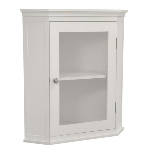 6. Elegant Home Fashions - The Madison Collection Shelved Corner Wall Cabinet