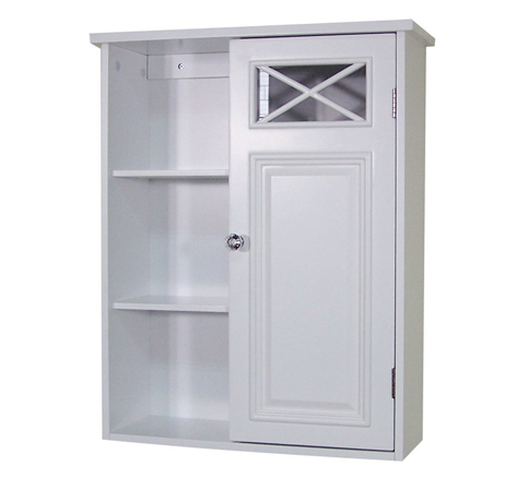 1. Elegant Home Fashions - The Dawson Collection Shelved-Wall Cabinet with Storage cubbies