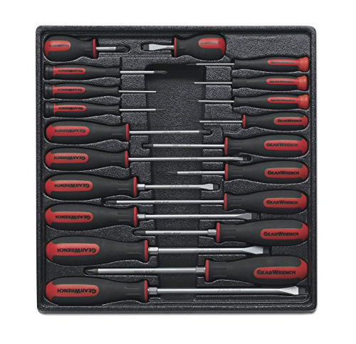 6. GearWrench 80066 20 pcs Master Dual Material Screwdriver Set